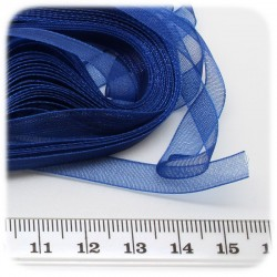 5 MT - NASTRO ORGANZA 6 MM - BLU
