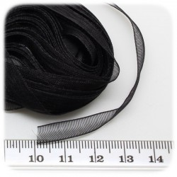 5 MT - NASTRO ORGANZA 6 MM - NERO