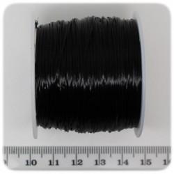 1 PZ - BOBINA 0,6 MM FIBRA ELASTICA NERA - BASE PER COLLANE E BRACCIALI