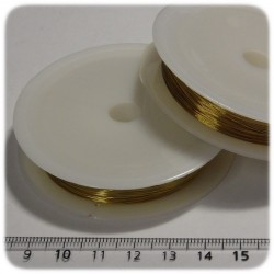 26 MT - FILO METALLICO IN OTTONE 0,3 MM - ORO