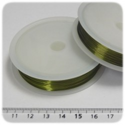 15 MT - FILO METALLICO IN OTTONE 0,4 MM - VERDE
